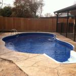 Houston Inground Vinyl Pool - April - 4