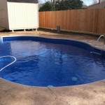 Houston Inground Vinyl Pool - April - 2