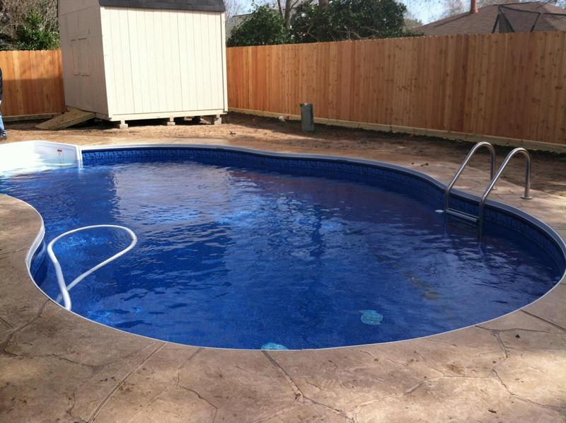 Houston vinyl pool photos vinyl liner pool gallery for Vinyl inground pool