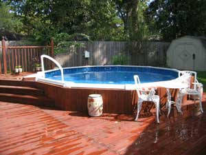 Above ground pool installation diy job for Creative pool design jobs